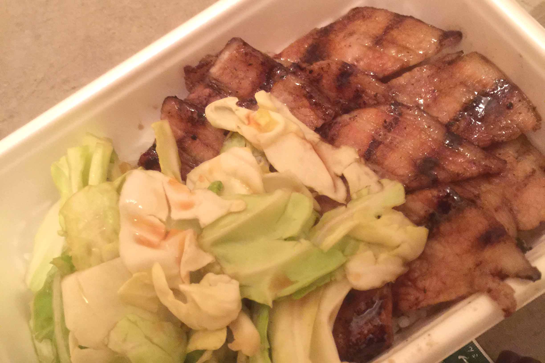 キャベツと豚肉がぎっしり