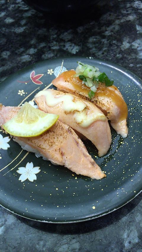 鮭炙り三点盛り