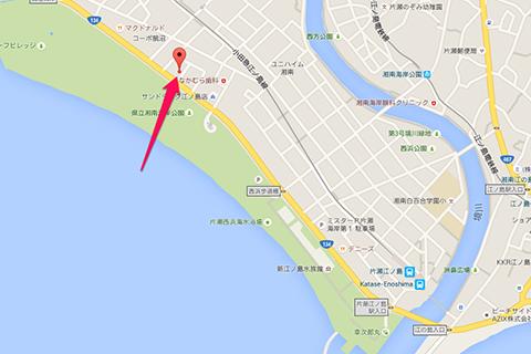 モスカフェ江ノ島地図