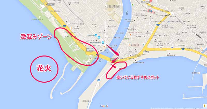 江ノ島花火大会空いているおすすめスポット