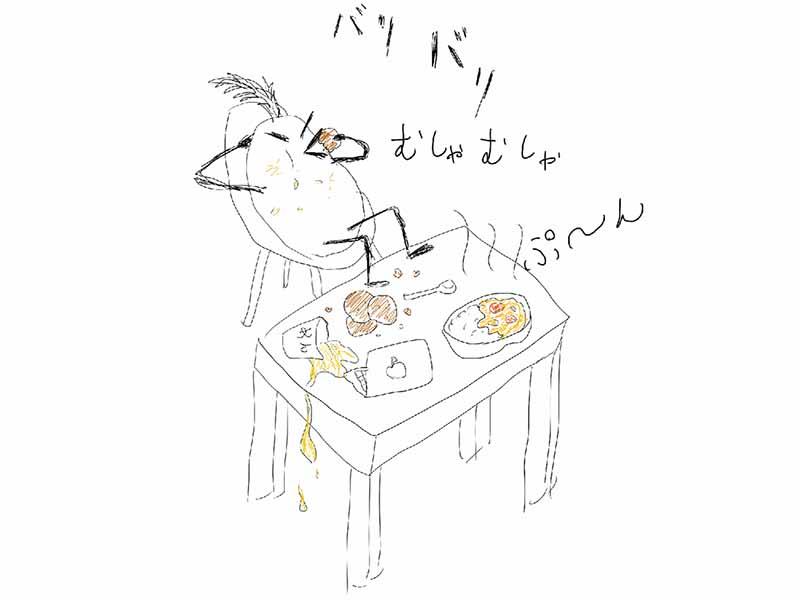 コワーキングカフェで食べ散らかさないで!