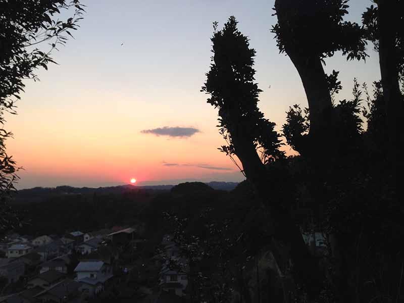 夕陽が落ちて行きます