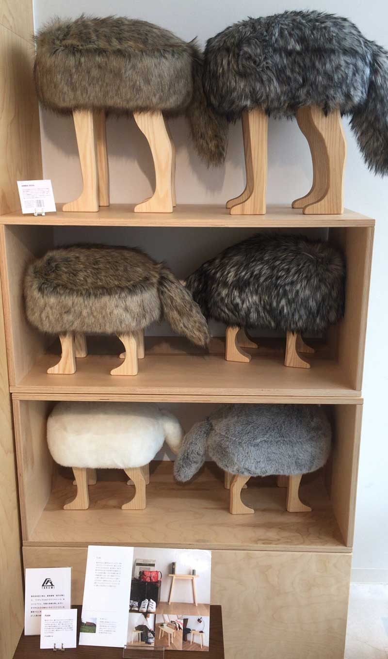 動物型の椅子!かわいい!