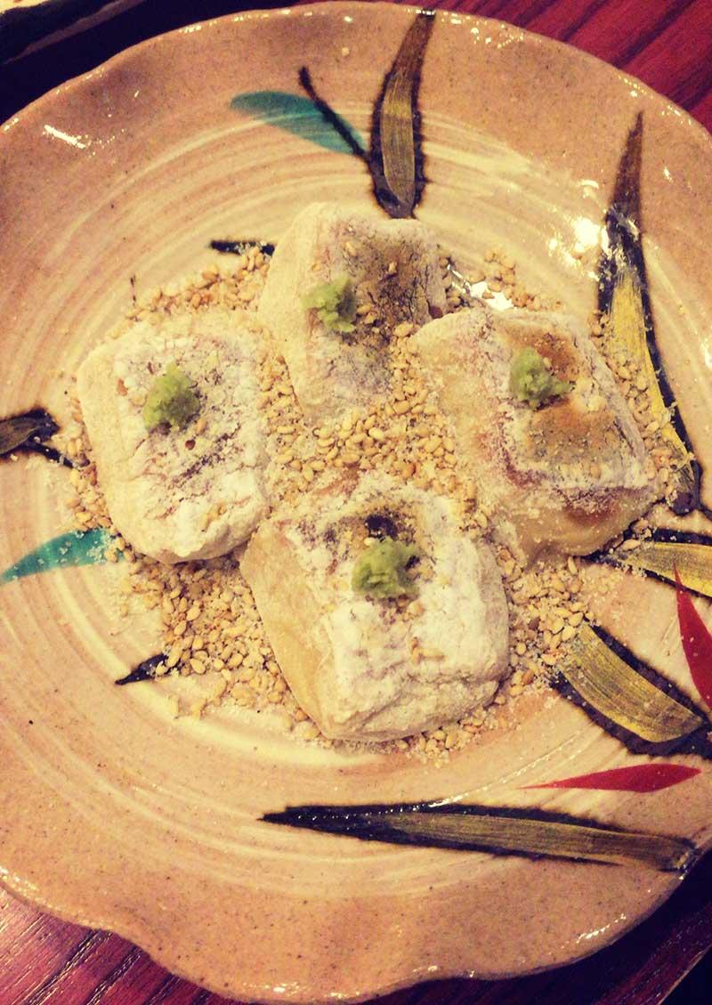 珍しい焼き胡麻豆腐