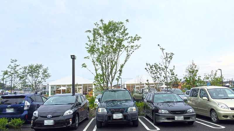 駐車場もたくさんスペースがあります