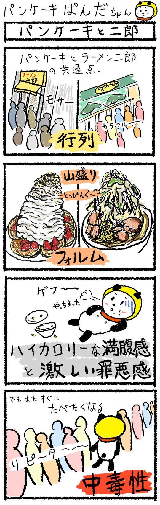 パンケーキと次郎