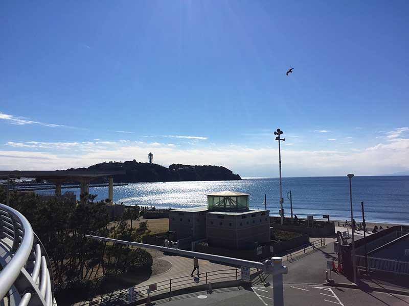 空気が綺麗で江ノ島もくっきり