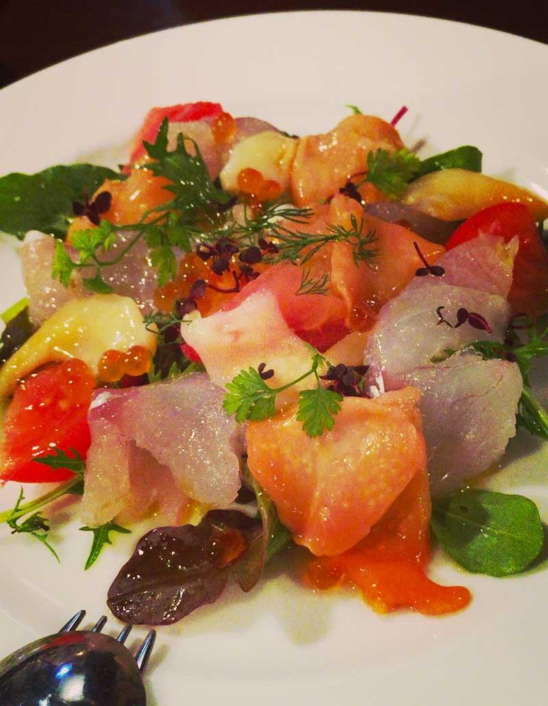 色とりどり鮮魚のカルパッチョ