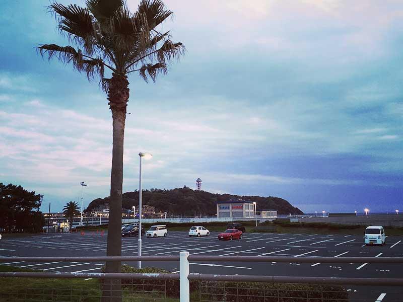 目の前は江ノ島です