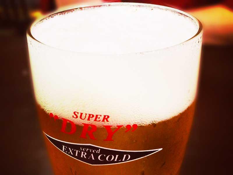 ビールもキンキンに冷えてます