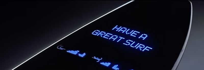 ボードにメッセージや様々な情報が表示される