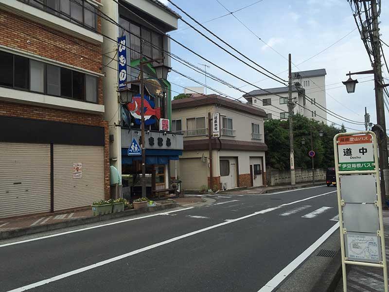 この温泉街の裏手の山中に舛添さんの別荘があります