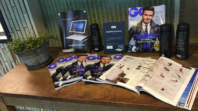 『GQ JAPAN』とのコラボレーションによる「『GQ JAPAN』 × HUAWEI MateBook Cafe」