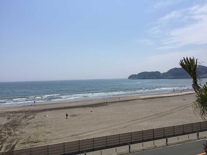 海が一望できる眺め