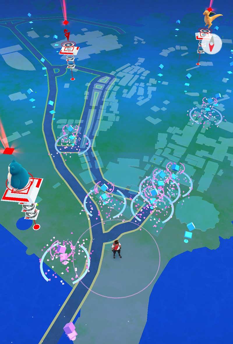 江ノ島はポケストップがいっぱいだー