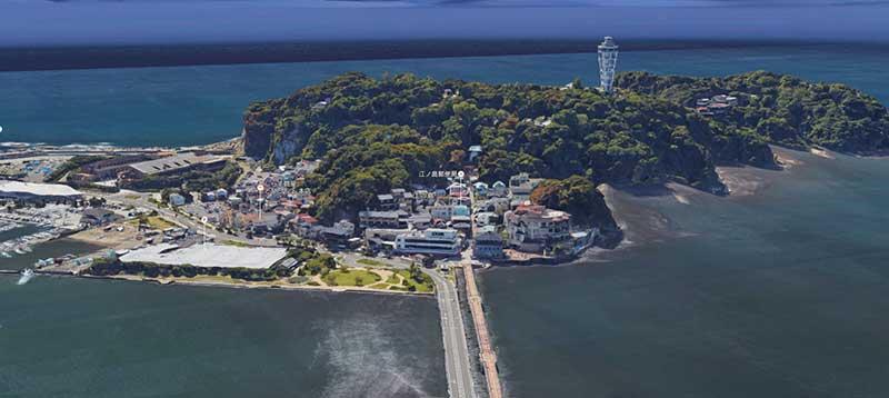 江ノ島全景