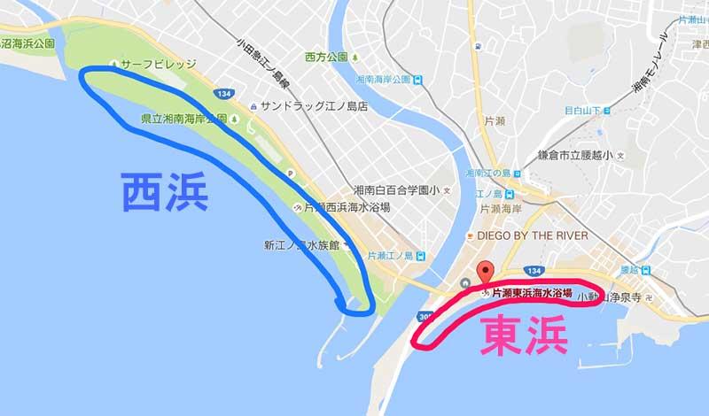 東浜の地図
