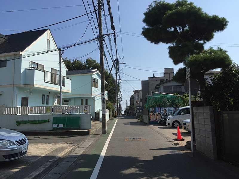 和田塚駅から由比ヶ浜海岸まで徒歩10分