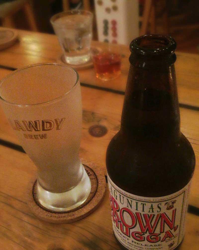ビールとウィスキーでかんぱーい