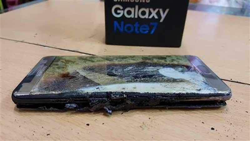 Galaxynote7爆発でリコール
