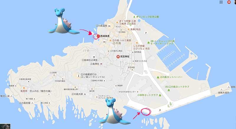 1日に2体出現!江ノ島はラプラスの巣だった!