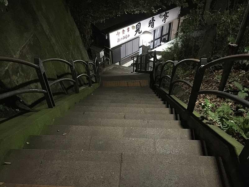 江ノ島内にはご覧のような急な坂がたくさん