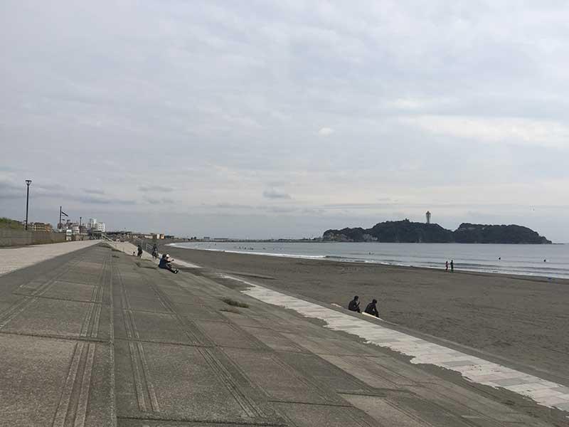 江ノ島が見える定番お散歩コース