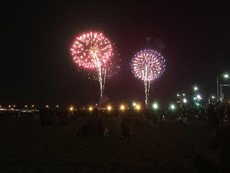 空いている東浜でもこんなに綺麗に見られます