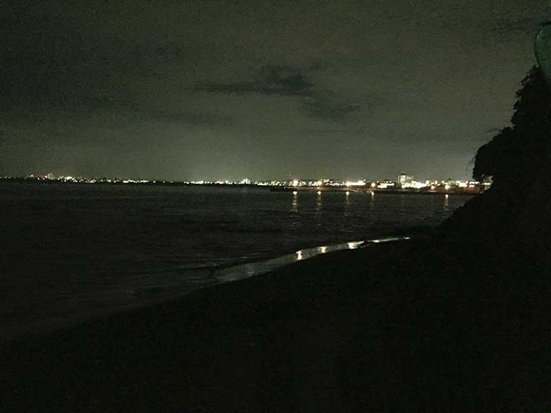 対岸の明かりだけが遠くに見えるだけ
