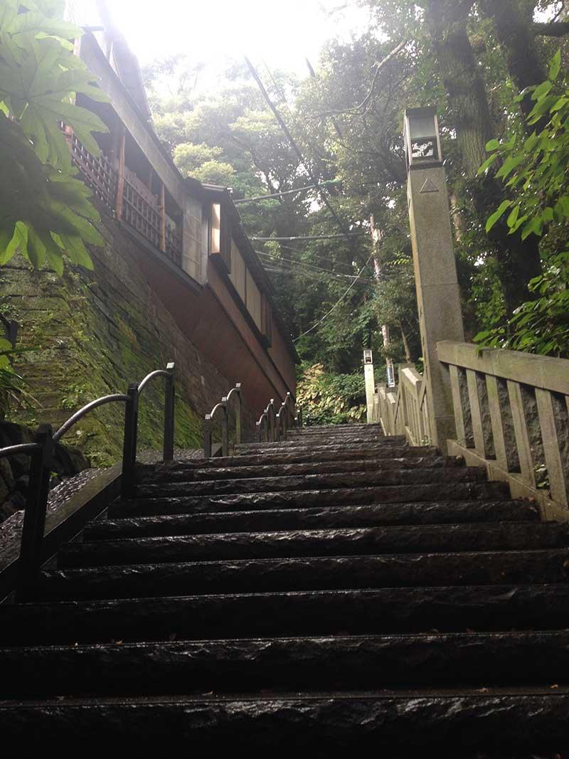 江ノ島は坂だらけ