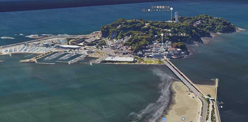 江ノ島の標高は60メートルもある