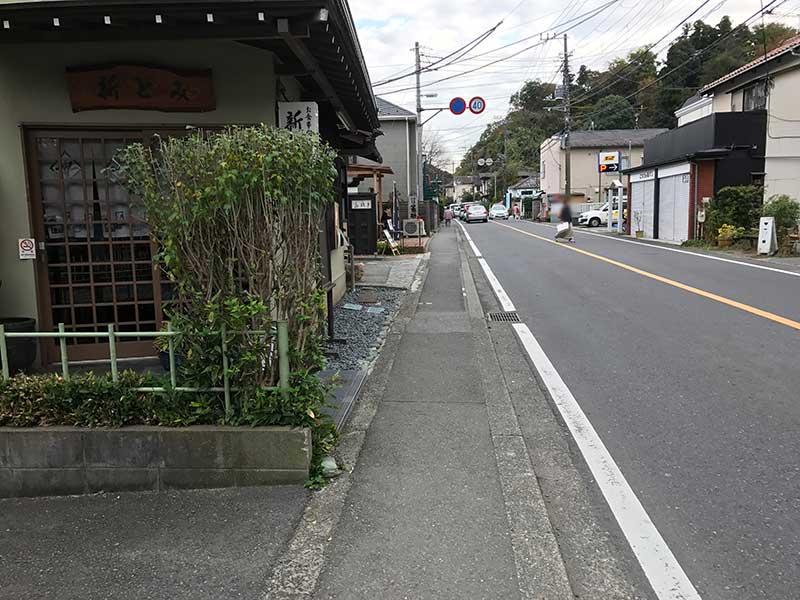 北鎌倉の静かな通り