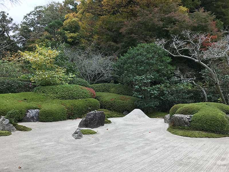 本堂の奥にある枯山水庭園