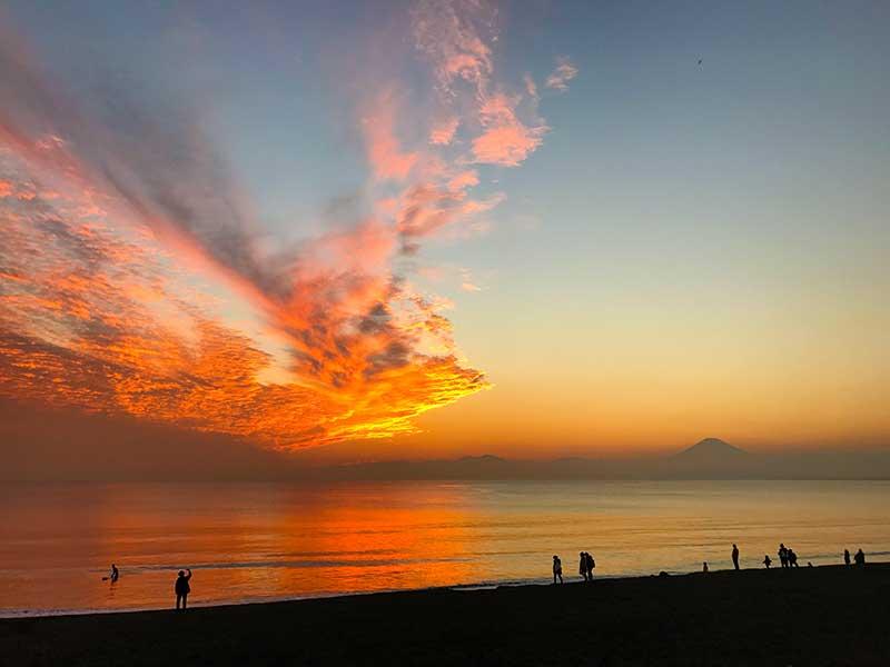 天気がいい日は富士山も見えます