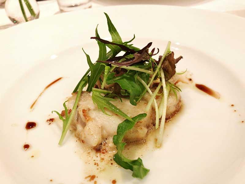 フレッシュな風味が鯛と白子にぴったり