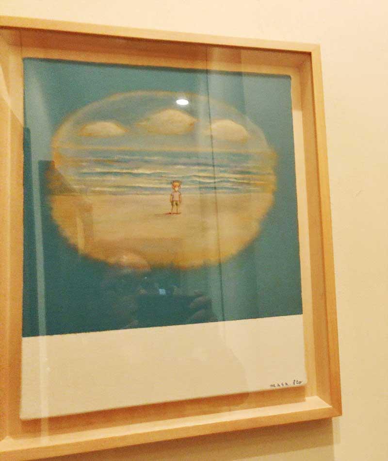 海をイメージした絵画