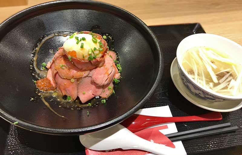 ららぽーと湘南平塚「利休」のローストビーフ丼