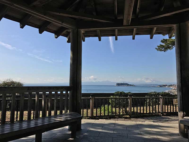 江ノ島が遠くに見えらあ