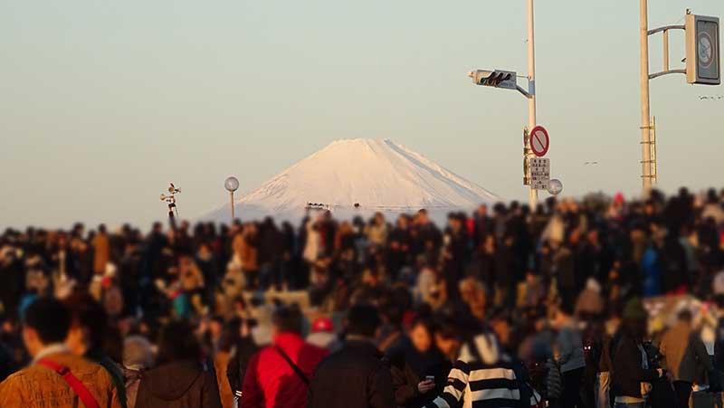 初日の出と富士山が同時に楽しめました