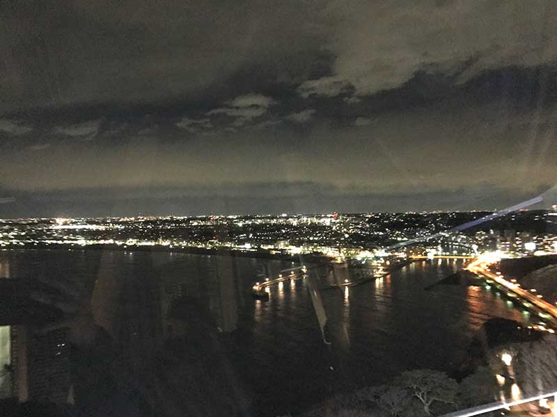 眼下に広がる相模湾の夜景