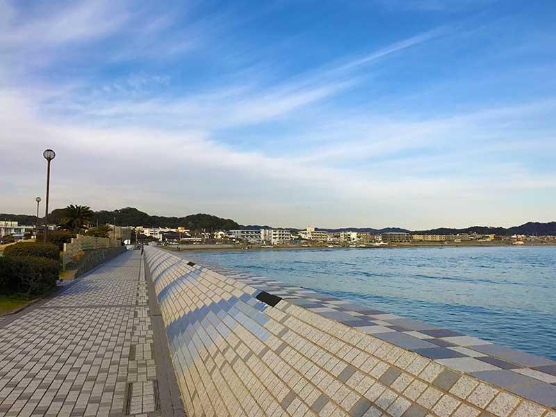 鎌倉海浜公園前を通り過ぎて