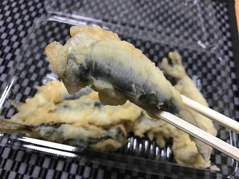 冷めても美味しいイワシの天ぷら