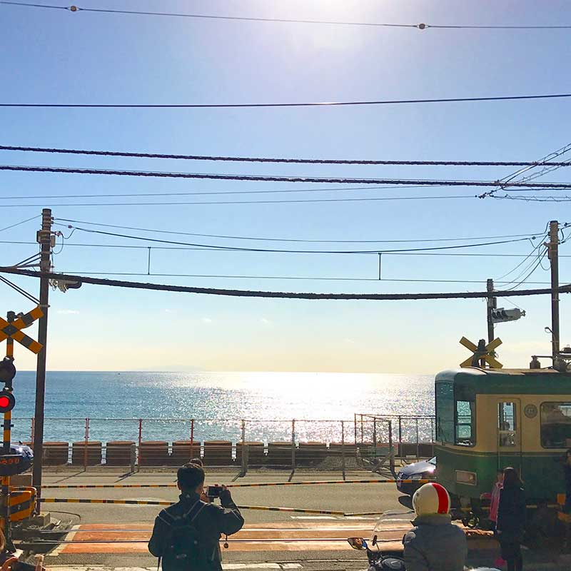 有名な鎌倉高校前の江ノ電