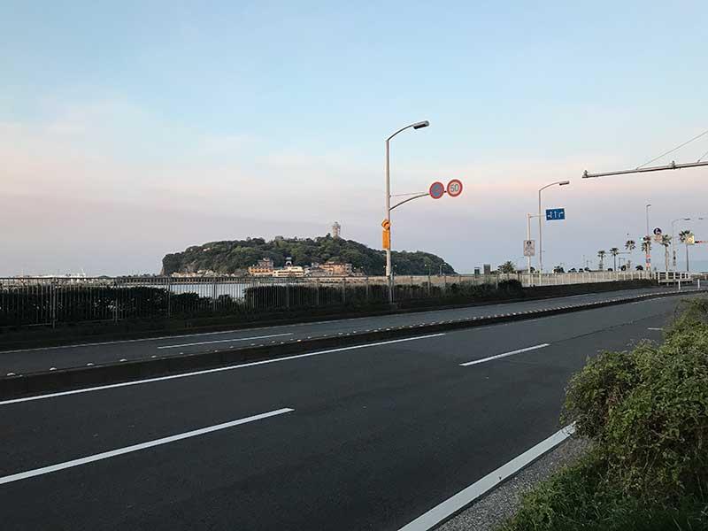 江ノ島がすぐ目の前