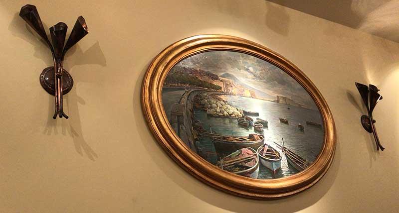 ナポリ風の内装