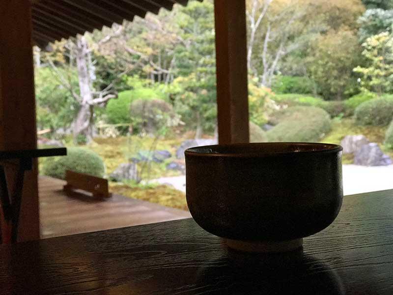 浄妙寺の中にあるカフェ「喜泉庵」でほっこり休憩