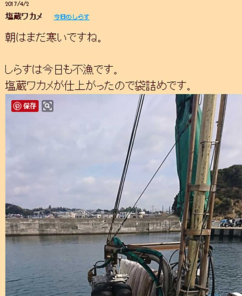 勘浜水産のしらす漁の成果ブログ