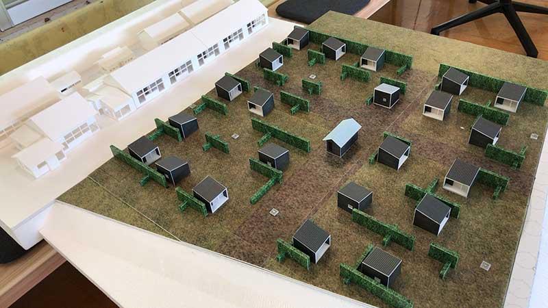 小屋が全棟建つとこんな感じ