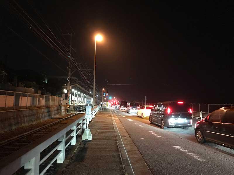 鎌倉高校前も大渋滞