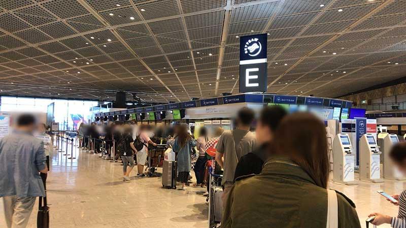 JINAIRは成田空港第1ターミナルから出発